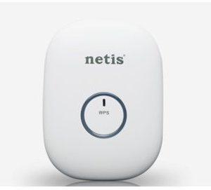 Netis WIFI Wzmacniacz sygnału mini, B/G/N300 z gniazdem RJ-45, do gniazdka 230V, biały E1+ (E1+(WHITE)) - 1 zdjęcie